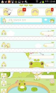노랑박스 까토와 애니멀베어 카카오톡 테마- screenshot thumbnail