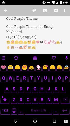 Neon Purple - Emoji Keyboard