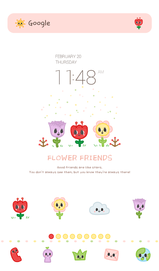 flower friends dodol theme - screenshot