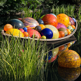 Chihuly at the Denver Botanic Gardens by Heather Diamond - Artistic Objects Glass ( water, glass art, sculpture, chihuly, glass, boat )