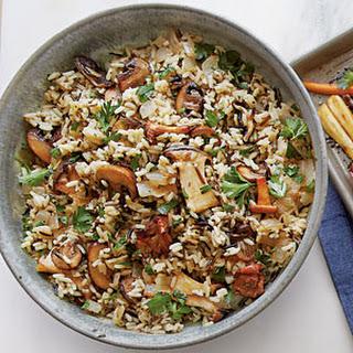 Wild Rice with Mushrooms.