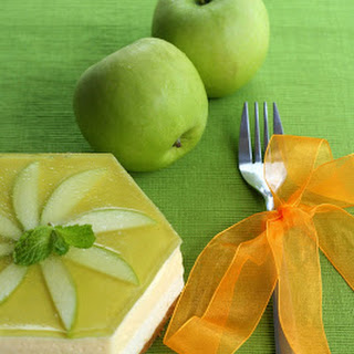 Green Apple and Passionfruit Mousse cake.
