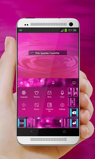 無料个人化Appのピンクスパークル TouchPal 記事Game
