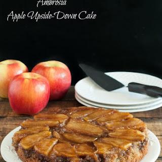 Ambrosia Apple Upside Down Cake {Gluten Free}