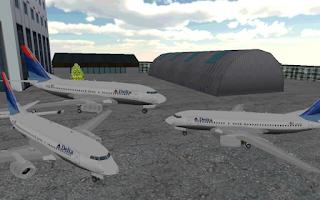 Screenshot of Airport 3D airplane parking
