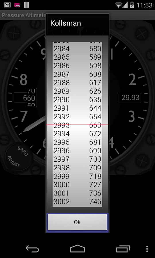 Pressure Altimeter - screenshot