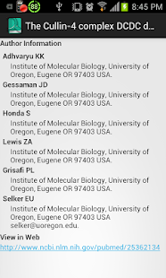 PubMed Search App- screenshot thumbnail