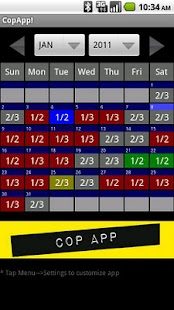 CopApp ! Calendar Schedule - screenshot thumbnail