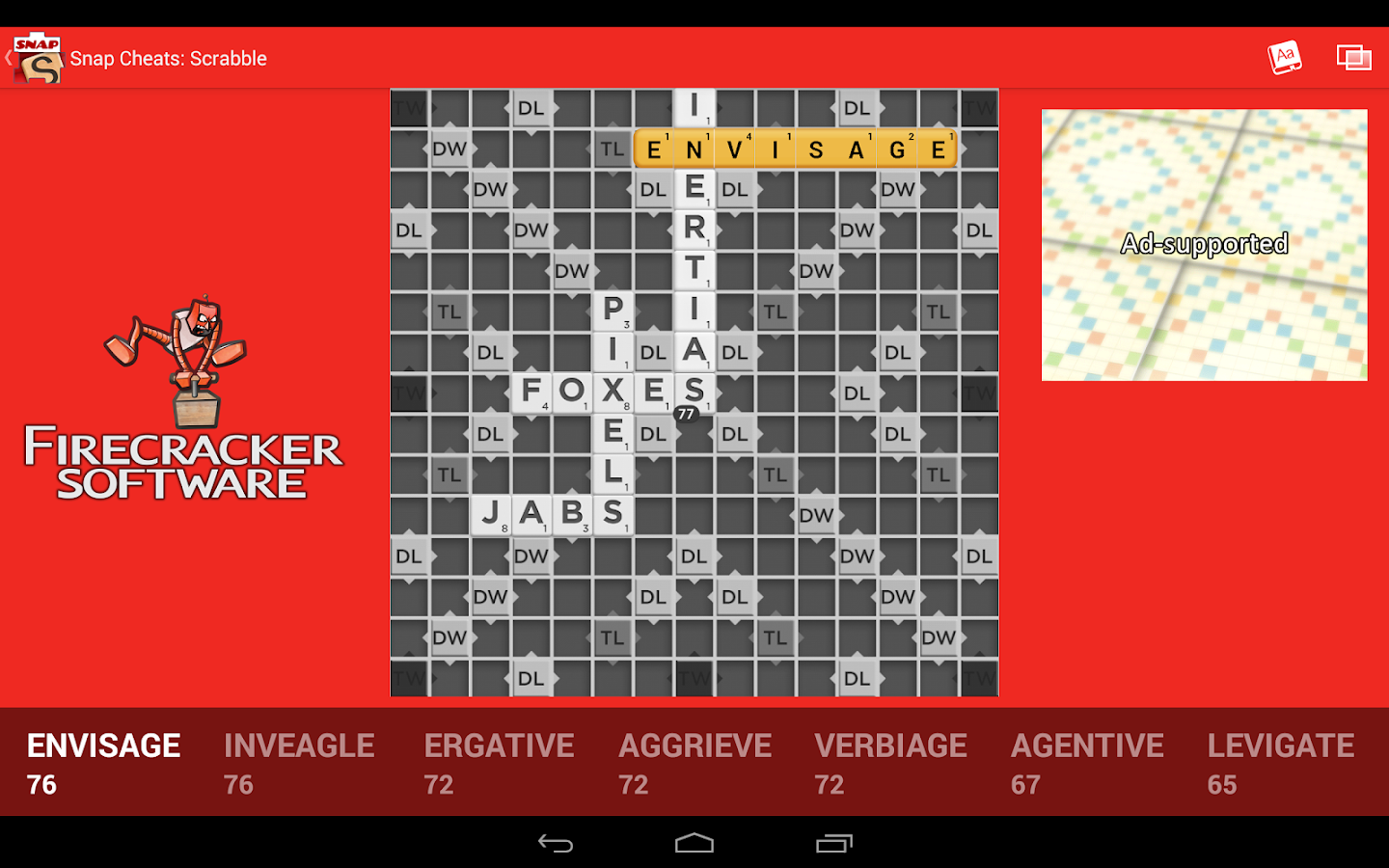 Snap Cheats: Scrabble- screenshot