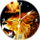 Lion Analog Clock