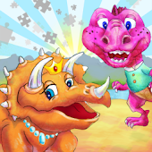 Dinosaur Kingdom Color Puzzle