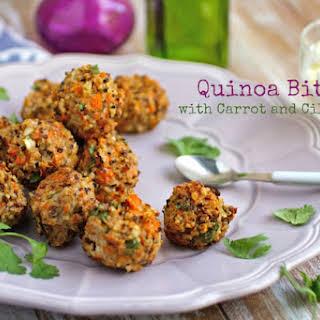 Quinoa Bites with Carrot and Cilantro.