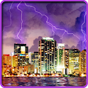 Lightning, Thunderstorm HD LWP icon