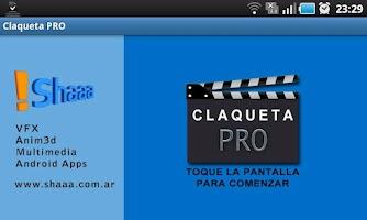 Screenshot of Claqueta PRO