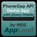 PhoneGap API w/ jQuery Mobile logo