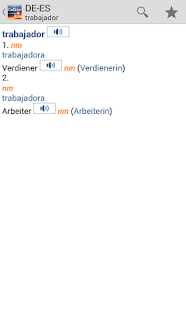 German<>Spanish Dictionary T- screenshot thumbnail