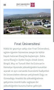 Fırat Üniversitesi screenshot