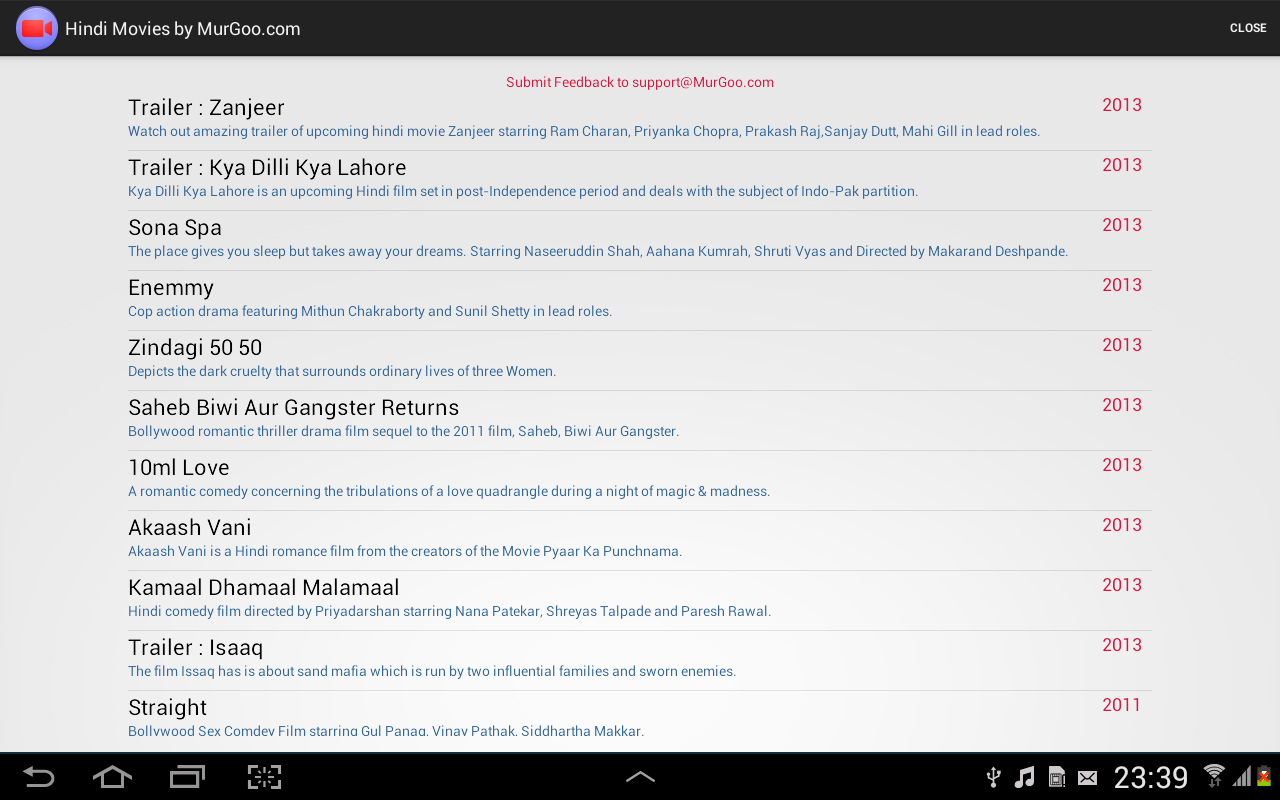 Hindi Movies App - screenshot
