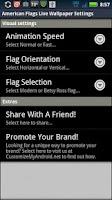 Screenshot of American Flags LWP Free