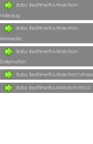 Baby Bedtime Routines