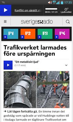 Sveriges Radio (bokmärkesapp) - screenshot