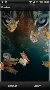 Tigers Live Wallpaper - screenshot thumbnail