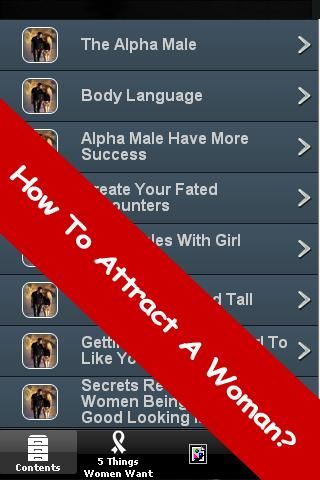 How To Attract A Woman - screenshot