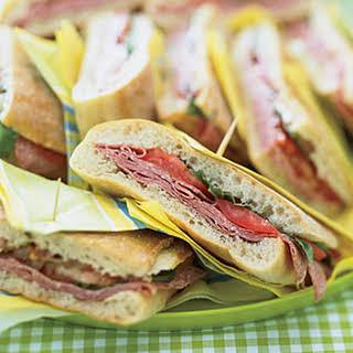 Pressed Mediterranean Sandwiches.