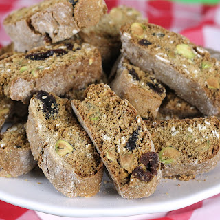 Dried Cherry 'n Pistachio Biscotti
