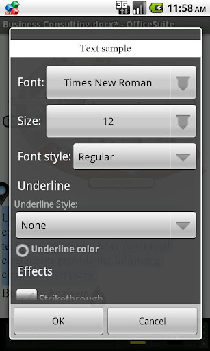 Download OfficeSuite Font Pack .APK For Android