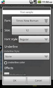 OfficeSuite Font Package - screenshot thumbnail