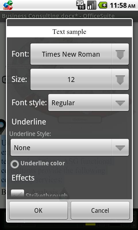 OfficeSuite Font Package - screenshot