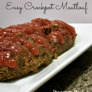 Easy Crockpot Meatloaf.