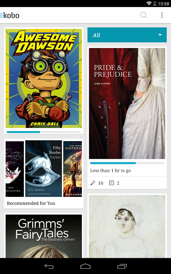 Kobo Books- screenshot