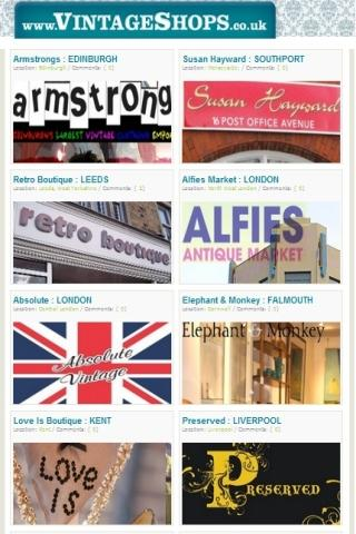 Vintage Shops UK
