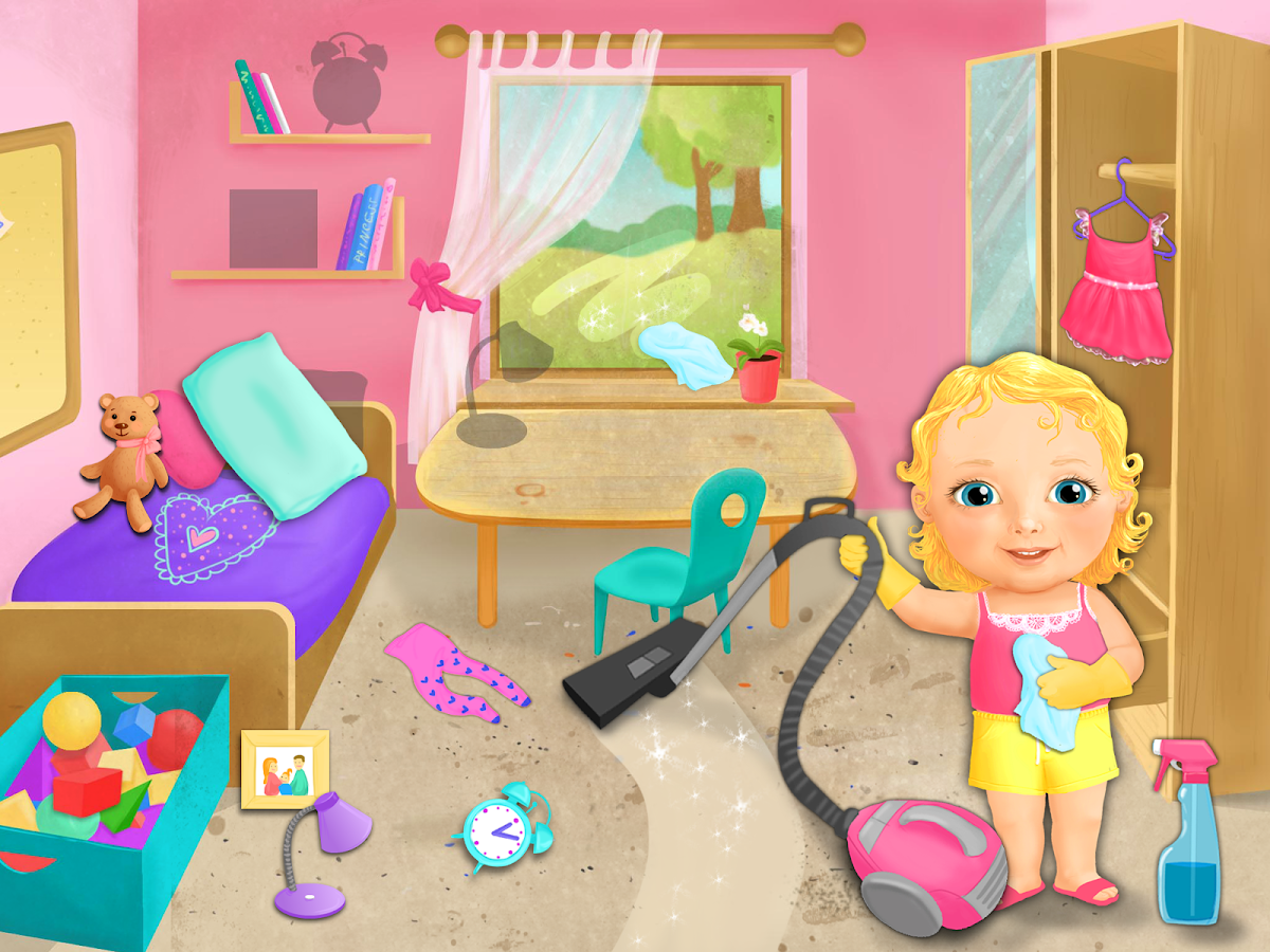 Sweet baby girl cleanup android apps on google play - Como limpiar una habitacion ...