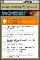 Screenshot of Estudios Biblicos Cristianos
