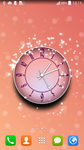 粉红色的时钟动态壁纸