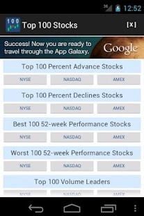 Top 100 Stocks- screenshot thumbnail