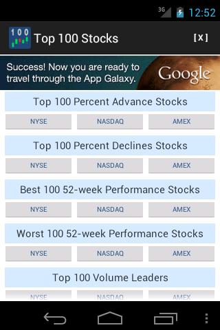 Top 100 Stocks- screenshot