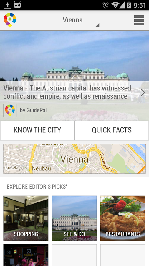 Vienna City Guide- screenshot