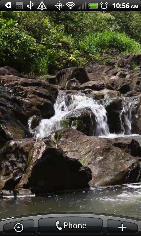 Rocky Falls Live Wallpaper - screenshot