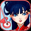 Geisha maquillage et habillage icon