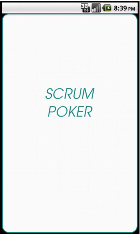 Scrum Planning Poker- screenshot