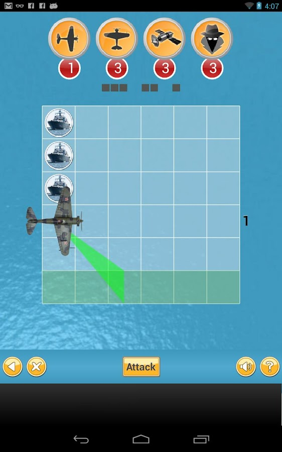 Ship Attack - Brain puzzle- screenshot