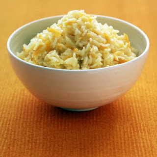 Basmati Rice with Onion and Ginger.
