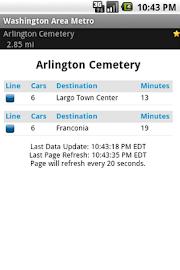 Washington Area Metrorail Screenshot 2