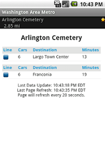 Washington Area Metrorail Screenshot 4