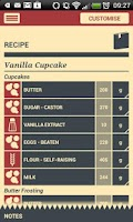 Screenshot of The Baker App