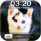 Kitty Cat Slider Lock Screen